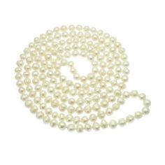 Pearl Necklaces at Pearl Jewellery Online Long Pearl Necklaces, White Pearl Necklace, Pearl Jewelry, Pearl White, White Jewelry Box, White Freshwater Pearl, Fine Jewelry, Pearl Color, Silver Pearls