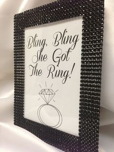 Bling Bridal Shower Table Display Bling by EVERYYlittleDETAIL, $7.00