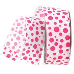 "the Ribbon Boutique 1 1/2"" Hot Pink Multi Dots Grosgrain Ribbon | Shop Hobby Lobby"