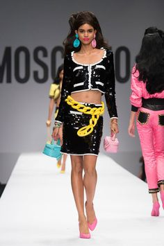 Moschino spring 2015 collection show. Photo: Imaxtree