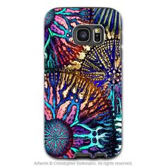Abstract Coral Galaxy S7 Edge Tough Case - Colorful Coral Reef Art Samsung Galaxy S7 EDGE TOUGH Case - Cosmic Star Coral
