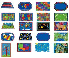 Beautiful classroom rugs by KidCarpet
