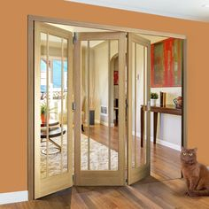 Folding Doors, Worcester Style Folding 3 Door Set With Clear Glass Will  Enhance Your Home