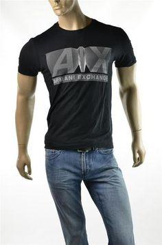 ARMANI EXCHANGE Mens AX A/X GIORGIO ARMANI Soft Slim T Shirt Top Sz M Medium NEW