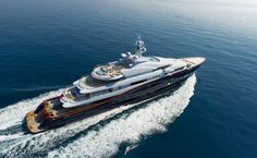 Nirvana yacht is 88.5 metres long, featuring six decks, a pool, two helipads, jet skis, a 3D cinema and a stage for live performances.  CeremoniesAtSea.com