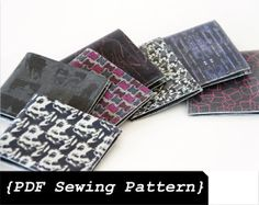 Men Wallet Sewing Pattern - Leather Wallet Pattern - DIY Wallet Pattern - Sewing Wallet Pattern - Me Diy Wallet Pattern, Leather Wallet Pattern, Slim Leather Wallet, Wallet Tutorial, Diy Tutorial, Men's Leather, Leather Jewelry, Homemade Gifts For Men, Diy Father's Day Gifts