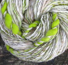 glow worm handspun yarn by folktalefibers, via Flickr