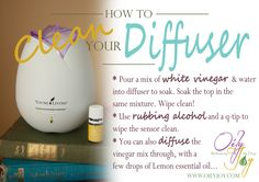 How to clean your home diffuser - Young Living Essential Oils - www.oilyjoy.com - Join the Joilers!