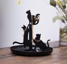 BLACK CATS JEWELRY HOLDER - Siyah Kediler Mücevher Standı Mücevherlerinizi artık bu oyuncu kediler tutsun!