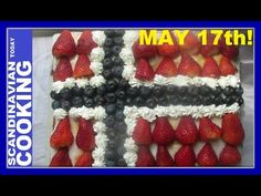 Happy Constitution Day to our Norwegian friends! Enjoy a slice of NORWEGIAN FLAG CAKE In honor of Syttende Mai, the Norwegian Constitution Day! Norwegian Cuisine, Norwegian Flag, Danish Kringle, Nordic Recipe, Flag Cake, Constitution Day, Scandinavian Food, Apple Filling, Complete Recipe