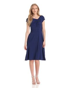 Jessica Howard Women's Cap Sleeve Knot Neck Fit And Flare Dress, Cobalt, 6 Jessica Howard,http://www.amazon.com/dp/B00CGTCOKC/ref=cm_sw_r_pi_dp_7xrVrb259FE44FAF