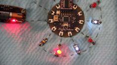 Lilypad Arduino & Heartbeat from Pulse Sensor on Vimeo