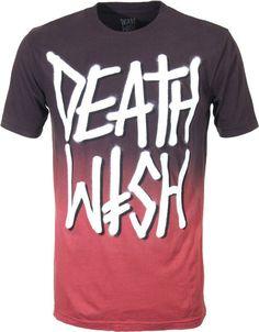 DEATHWISH Skateboard T SHIRT DEATHSTACK BLACK/BROWN Sz L #DEATHWISH #GraphicTee