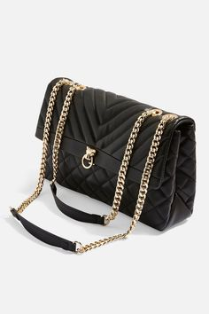 aa56890071 TopShop black Panther Quilted Shoulder Bags