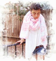 Oversize Tanktop + Denim Shorts + Scarf #rimolosangeles #westla #scarf #denim #shorts #oversize #tanktop #fashion #boutique #pastel #summer #spring #losangeles
