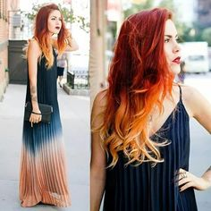 Awesome DIY Ombre Hair Color Ideas for 2017 Ombre hair has become extremely popular over the past several years. Check out the best hair color ideas and DIY techniques for Diy Ombre Hair, Ombre Hair At Home, Cheveux Oranges, Flame Hair, Hair Chalk, Ombré Hair, Red Hair Color, Color Red, Hair Colors