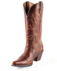 Love These!!   Women's Heritage Western X Toe Boot - Vintage Caramel
