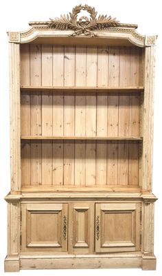 Antique French Pine Bookcase on Chairish.com