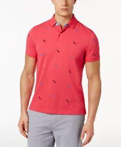 Ralph Lauren Red Men Mesh V neck Sweaters