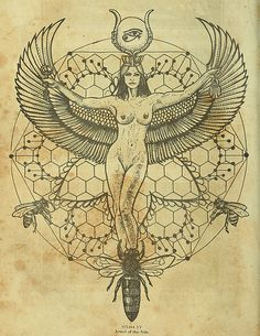 """occultartistscollective: """" One of my favorite Goddesses, #Isis represents the perfect mother, lover and savior to the poor, the filthy, and most wretched of all…the artists. see more of my work here..."""