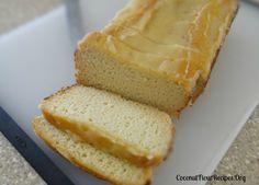 Lemon Loaf Coconut Flour with Lemon Vanilla Glaze   Coconut Flour Recipes