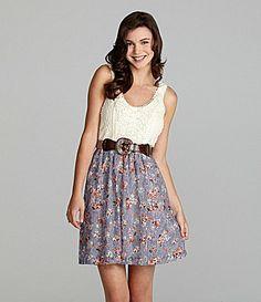 Jodi Kristopher - Printed Lace Dress