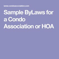 Amending Condominium Bylaws Is Difficult, but Sometimes There Is ...
