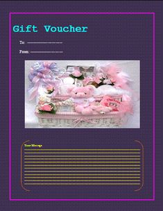 Gift Voucher Template Voucher Template Free, Gift Certificate Template, Gift Certificates, Word Templates, Templates Printable Free, Free Printables, Professional Gifts, Gift Vouchers, Save Yourself