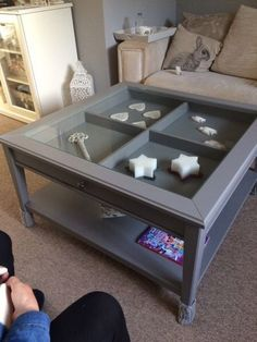 liatorp ikea coffee table with drink coasters fixed into drawers for an amazing contemporary. Black Bedroom Furniture Sets. Home Design Ideas