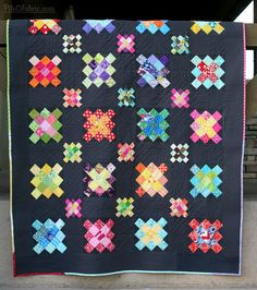 double granny square quilt by Pile of Fabric
