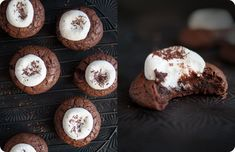 Hot Cocoa Cookies. Best served warm. From Some Kitchen Stories.