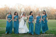 Blue Bridesmaids dresses, Vintage Wedding