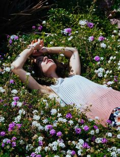 Laying in a bed of gorgeous flowers = My kind of adventure