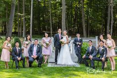 Wedding party portraits at Saphire Estate