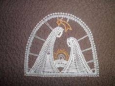 Filet Crochet, Irish Crochet, Lace Heart, Lace Jewelry, Lace Patterns, Bobbin Lace, Xmas, Christmas, Lace Detail