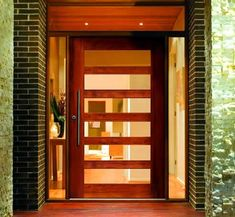 modern pivot entry door