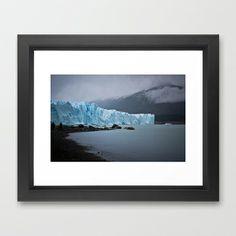 Glacier Framed Art Print by Nat Robles - $32.00