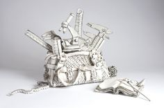 Katharine Morling creates clay sculptures that look like sketches...so cool!
