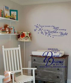 "I Loved the STARS too Fondly to be FEARFUL of the NIGHT, Galileo Galilei quote with Stars  wall decal approximately 28-1/2""w x 12""h (72cm x 30cm)"