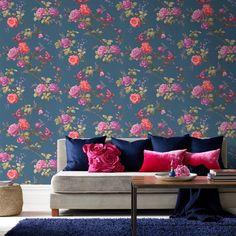 Oriental Bleu Barock Tapete, Tapeten Wohnzimmer, Moderne Tapeten,  Hotelzimmer, Wandverkleidung, Wandgestaltung
