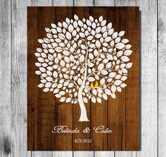 Hochzeit Gast Buch Alternative Print Holz Baum von SarusWeddingTree