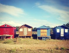 Whitstable Beach is in a charming seaside town an hour and a half outside London by train #Countryside #Seaside #QuaintTowns #Vacation #UK