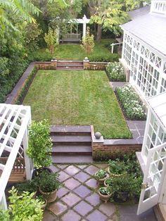 Terraced garden.