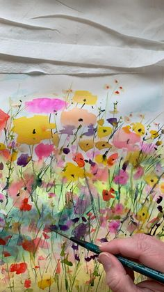 Time lapse of watercolor floral painting by Lindsay Megahed Watercolor Art Lessons, Abstract Watercolor Art, Watercolor Painting Techniques, Watercolor Landscape, Watercolor Illustration, Watercolor Flowers, Drawing Flowers, Painting Flowers, Water Color Painting Landscape