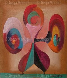 """""""Payaso"""", acrylic on canvas, 14 x 13 cm. year 2007 . By Diego Manuel"""