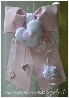 Fiocco nascita cuore palloncino con rose
