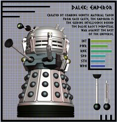 NDP - Dalek Emperor by ~Librarian-bot on deviantART Doctor Who Dalek, Doctor Who Art, Anubis, Doctor Who Assistants, The Rouge, Retro Robot, Sci Fi Comics, Vader Star Wars, D&d Dungeons And Dragons