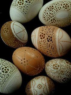 Viktorianische Spitze geschnitzt und geätzt Ei Ihres eigenen Designs SONDERAUFTRAG