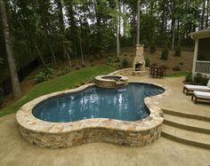 What Is Semi Inground Pool | semi inground pools semi inground pool above ground pools semi ...
