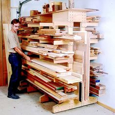 Lumber storage inspiration